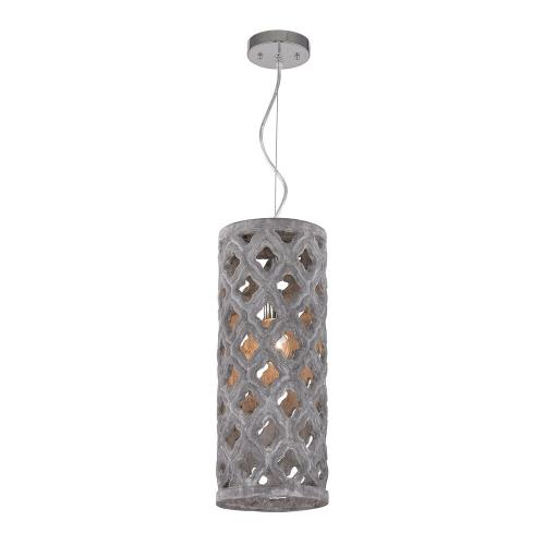 Dimond Home 156-014 Pierced Grey - One Light Pendant With Geometric Pattern
