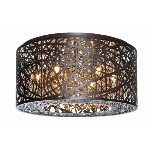 ET2 Lighting E21300 Inca - 7 Light Flush Mount - 15.75 Inches wide by 8.75 inches high