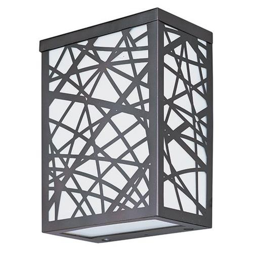 ET2 Lighting E21333-61BZ Inca-12W 2 LED Small Outdoor Wall Sconce-6 Inches wide by 7.5 inches high