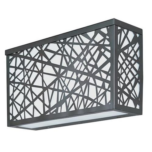 ET2 Lighting E21336-61BZ Inca-24W 4 LED Large Outdoor Wall Sconce-12 Inches wide by 6.5 inches high