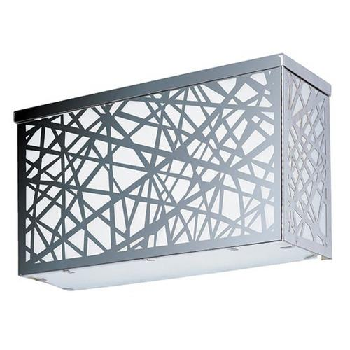 ET2 Lighting E21336-61PC Inca - 24W 4 LED Square Large Outdoor Wall Sconce - 12 Inches wide by 6.5 inches high