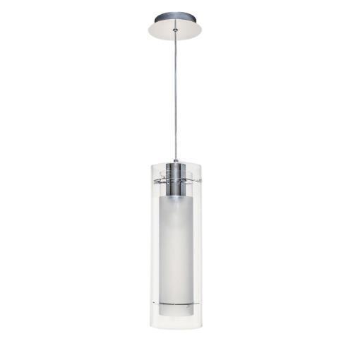 ET2 Lighting E22000-10 Frost - 1 Light Pendant in Modern style - 5.5 Inches wide by 15 inches high