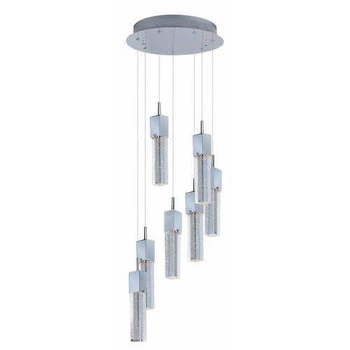 ET2 Lighting E22767 Fizz III - 52.5W 7 LED Pendant - 13.5 Inches wide by 12 inches high