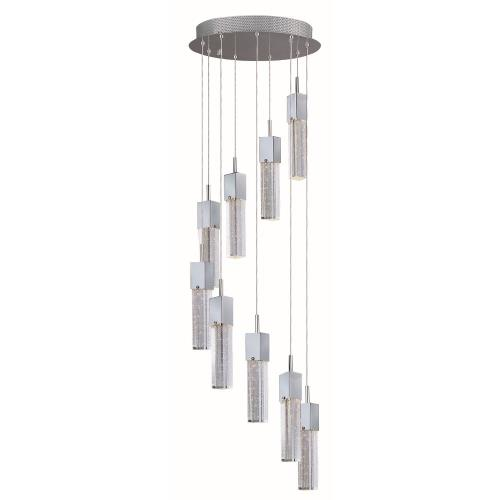 ET2 Lighting E22769 Fizz III-67.5W 9 LED Pendant in Mediterranean style-15.75 Inches wide by 12 inches high