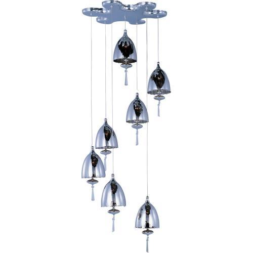 ET2 Lighting E24356-81PC Chute - Seven Light Pendant