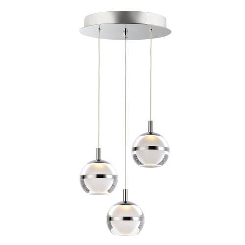 ET2 Lighting E24593 Swank - 11.75 Inch 18W 3 LED Pendant
