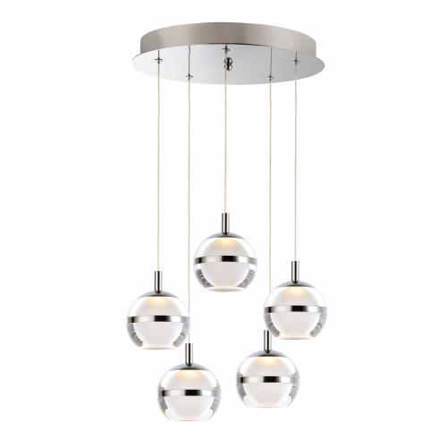 ET2 Lighting E24595 Swank - 15 Inch 30W 5 LED Pendant
