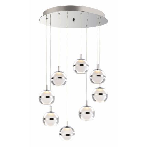ET2 Lighting E24598 Swank - 19 Inch 48W 8 LED Pendant