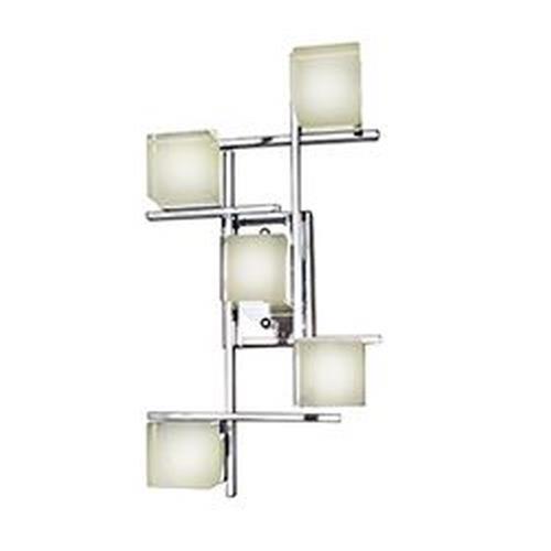 ET2 Lighting E31201-75PC Nova - 11 Inch 12W 5 LED Square Flush Mount