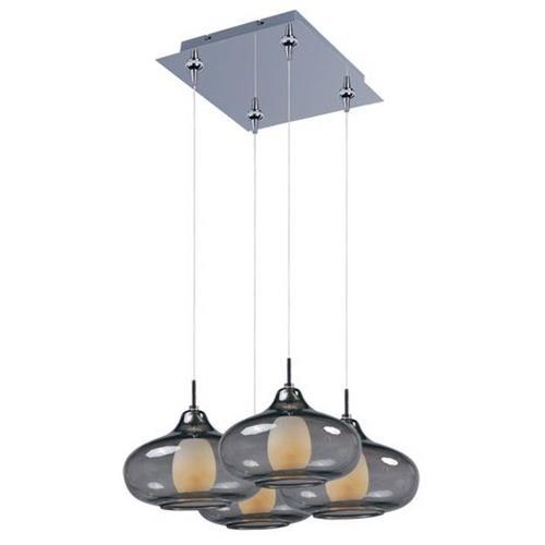 ET2 Lighting E94748-142PC Graduating 4-Light RapidJack Pendant and Canopy