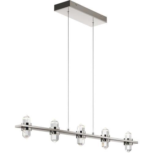 Elan Lighting 84067 Arabella - 36.5 Inch 5 LED Linear Chandelier