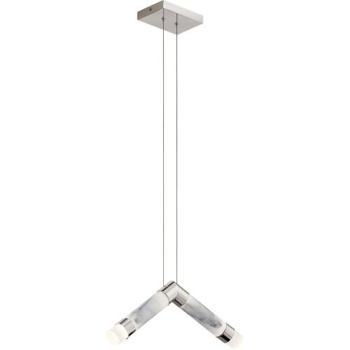 Elan Lighting 84138 Avedu - 20.5 Inch 75W 2 LED Pendant