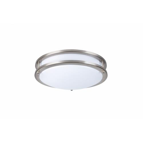 "Elegant Lighting CF3202 Ripple - 12"" 15W 5000K 1 LED 120-¦ Beam Angle Double Ring Flush Mount"