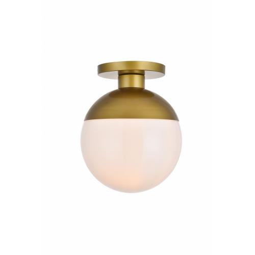 Elegant Decor LD6060BR Eclipse - One Light Flush Mount