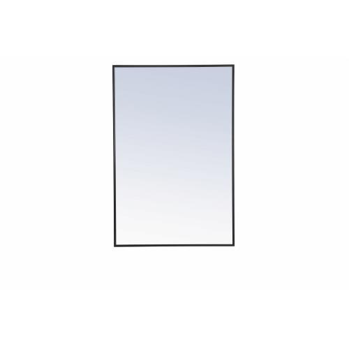 "Elegant Decor MR4077BK Eternity - 42"" Metal Frame Rectangle Mirror"