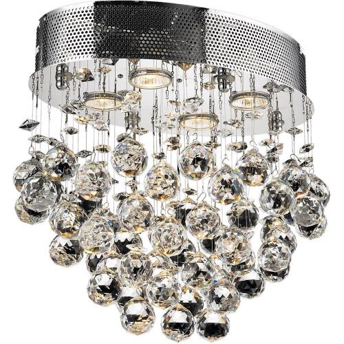 Elegant Lighting V2022F16 Galaxy - Four Light Flush Mount