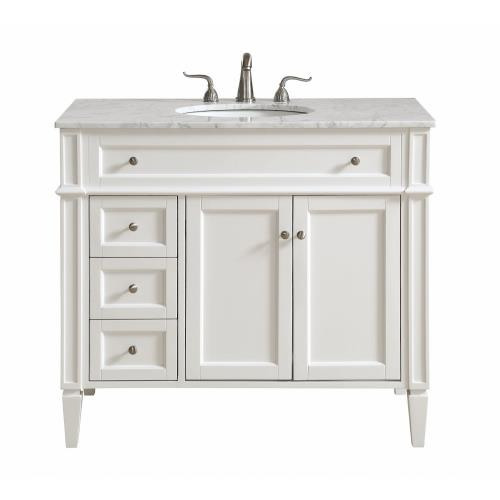 "Elegant Decor VF12540 Park Avenue - 40"" 3 Drawer Rectangle Single Bathroom Vanity Sink Set"