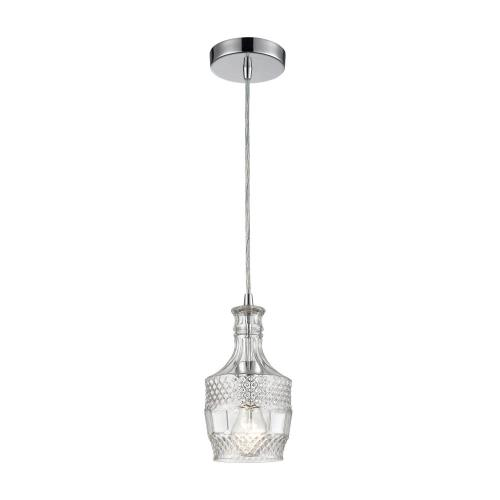 Elk-Home 1122-053 Twickenham - Transitional Style w/ Luxe/Glam inspirations - Glass 1 Light Round Pendant - 10 Inches tall 5 Inches wide