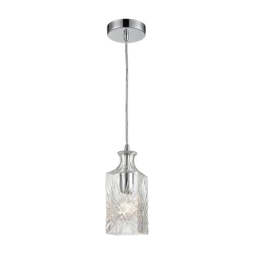 Elk-Home 1122-054 Twickenham - Transitional Style w/ Luxe/Glam inspirations - Glass 1 Light Square Pendant - 10 Inches tall 4 Inches wide