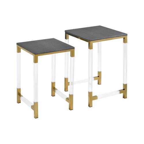 Elk-Home 1218-1013/S2 Consulate - 22 Inch Nested Table (Set of 2)