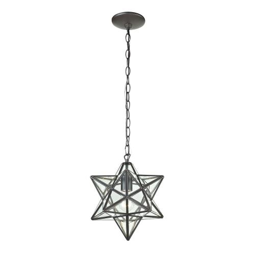 Elk-Home 145-001 Star - Traditional Style w/ Luxe/Glam inspirations - Glass and Metal 1 Light Pendant - 10 Inches tall 9 Inches wide