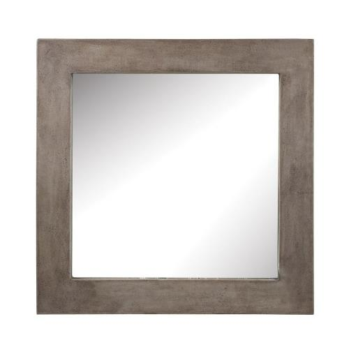 Elk-Home 157-001 Cubo - Transitional Style w/ ModernFarmhouse inspirations - Concrete Concrete Mirror - 32 Inches tall 32 Inches wide