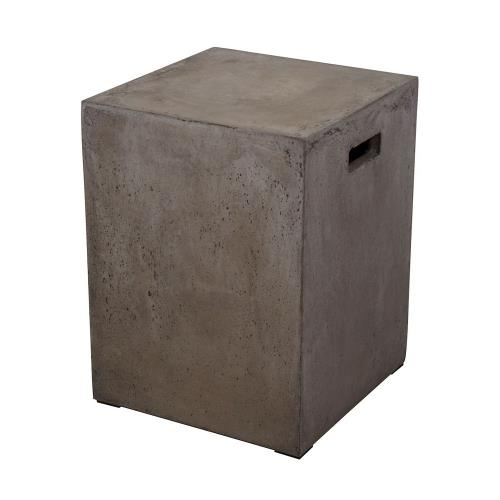 Elk-Home 157-004 Cubo - Transitional Style w/ ModernFarmhouse inspirations - Concrete Square Stool - 18 Inches tall 14 Inches wide