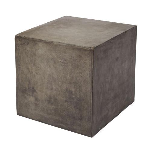 Elk-Home 157-008 Cubo - Transitional Style w/ ModernFarmhouse inspirations - Concrete Accent Table - 20 Inches tall 20 Inches wide