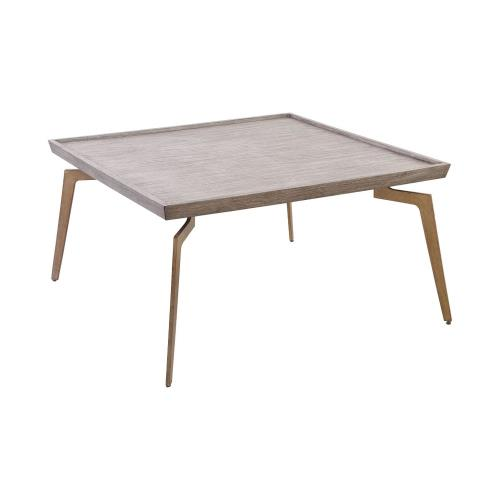 Elk-Home 164-001 Larocca - Modern/Contemporary Style w/ ModernFarmhouse inspirations - Birch Veneer and Iron and MDF Coffee Table - 20 Inches tall 38 Inches wide