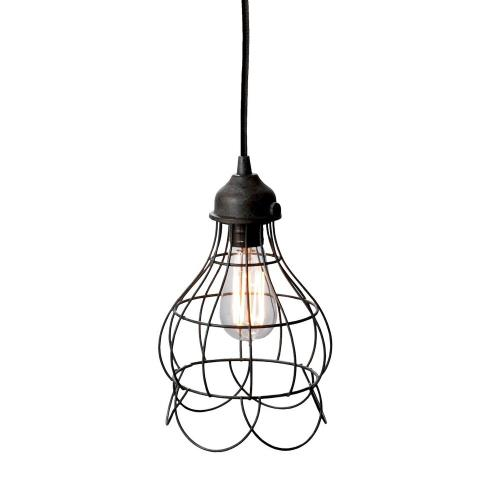 Elk-Home 225033 Wire - Transitional Style w/ Urban/Industrial inspirations - Iron 1 Light Mini Pendant - 12 Inches tall 6 Inches wide