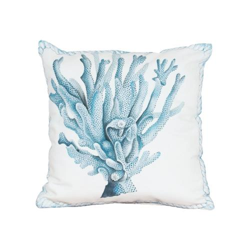 Elk-Home 2918504 Coral Hand Painted 20x20 Inch Outdoor Pillow