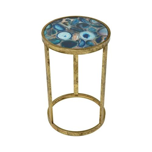Elk-Home 3138-291 Krete - Transitional Style w/ Luxe/Glam inspirations - Glass and Metal Accent Table - 20 Inches tall 12 Inches wide