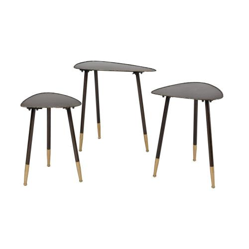 Elk-Home 3138-488/S3 Christian - Transitional Style w/ Mid-CenturyModern inspirations - Iron Accent Table (Set of 3) - 24 Inches tall 24 Inches wide