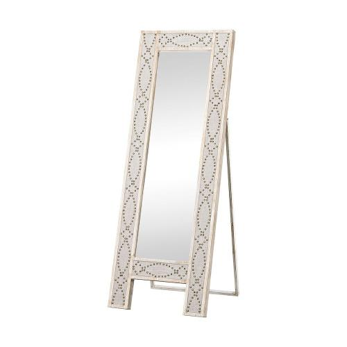 Elk-Home 3183-018 Albiera - Transitional Style w/ FrenchCountry inspirations - Fabric and Mirror and Wood Dressing Mirror - 70 Inches tall 24 Inches wide