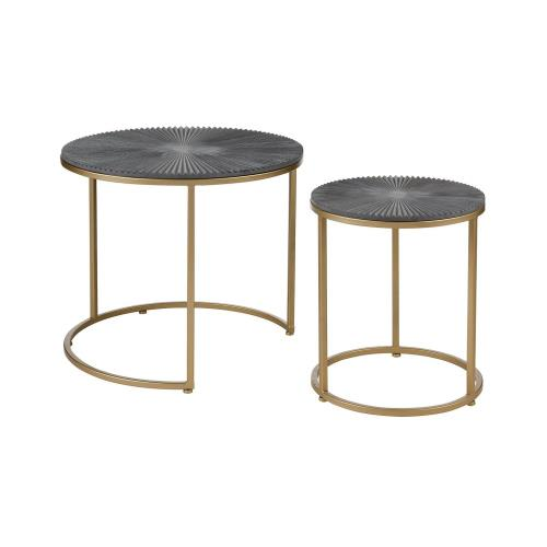 Elk-Home 3200-237/S2 Concrete Origami - 24 Inch Accent Table (Set of 2)