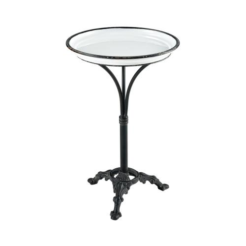 Elk-Home 351-10621 Biloxi - Transitional Style w/ Rustic inspirations - Metal Accent Table - 24 Inches tall 16 Inches wide