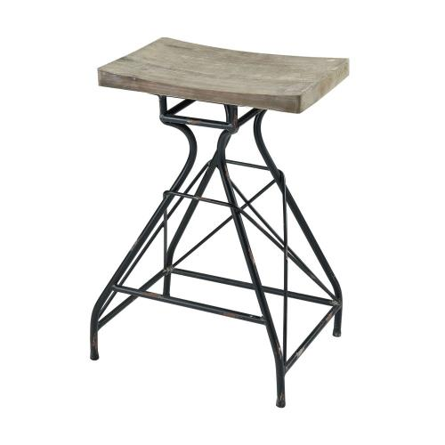 Elk-Home 351-10638 Paloma - Transitional Style w/ ModernFarmhouse inspirations - Metal and Wood Bar Stool - 28 Inches tall 19 Inches wide