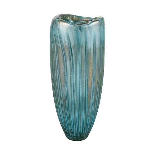 Elk-Home 4154-080 Sinkhole - Modern/Contemporary Style w/ Coastal/Beach inspirations - Glass Vase - 16 Inches tall 7 Inches wide