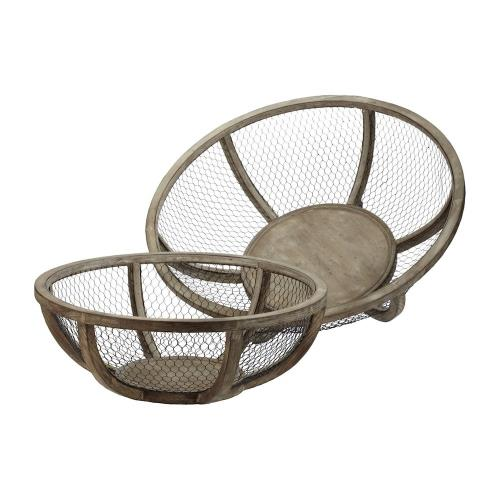 Elk-Home 594018 Wire Atlas - 27 Inch Bowl (Set of 2)