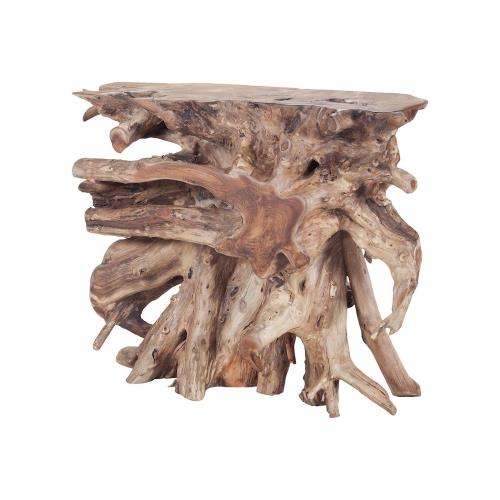 Elk-Home 7011-600 Yava - Transitional Style w/ ModernFarmhouse inspirations - Teak Console - 31 Inches tall 36 Inches wide