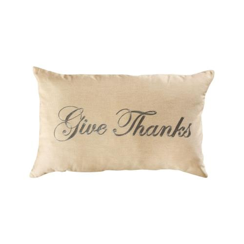 Elk-Home 907159 Give Thanks - 16x26 Inch Lumbar Pillow Cover Only