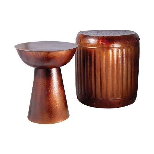 Elk-Home 951626 Truffle - Table And Barrel Stool (Set of 2)