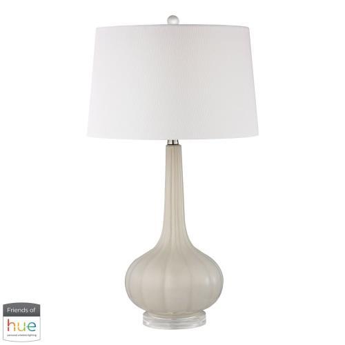 Elk-Home D24-HUE-B Abbey Lane - 30 Inch 60W 1 LED Ceramic Table Lamp with Philips Hue LED Bulb/Bridge