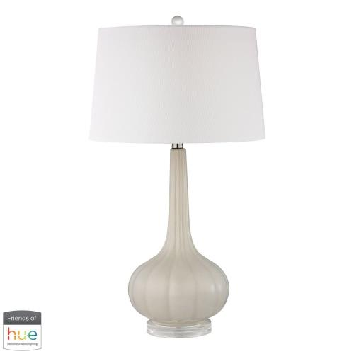 Elk-Home D24-HUE-D Abbey Lane - 30 Inch 60W 1 LED Ceramic Table Lamp with Philips Hue LED Bulb/Dimmer
