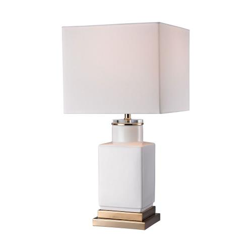 Elk-Home D2753 Transitional Style w/ Luxe/Glam inspirations - Acrylic and Ceramic and Metal 1 Light Small Table Lamp - 21 Inches tall 10 Inches wide