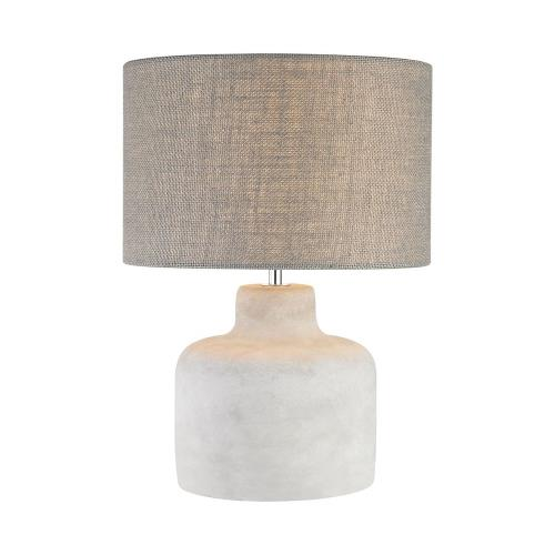 Elk-Home D2950 Rockport - Transitional Style w/ Urban/Industrial inspirations - Concrete and Metal 1 Light Table Lamp - 17 Inches tall 12 Inches wide