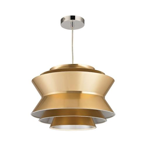 Elk-Home D2970 Godnik - Modern/Contemporary Style w/ Luxe/Glam inspirations - Metal and PVC 1 Light Pendant - 12 Inches tall 15 Inches wide