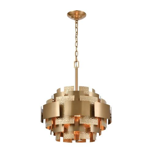 Elk-Home D4436 Case the Joint - Transitional Style w/ Luxe/Glam inspirations - Metal 3 Light Pendant - 19 Inches tall 17 Inches wide