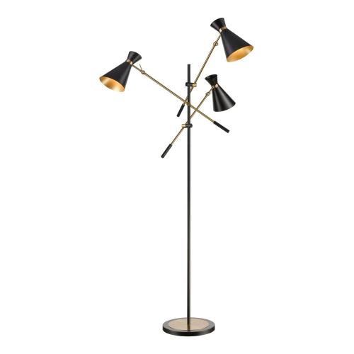 Elk-Home D4520 Chiron - Transitional Style w/ Mid-CenturyModern inspirations - Metal 3 Light Adjustable Floor Lamp - 73 Inches tall 43 Inches wide
