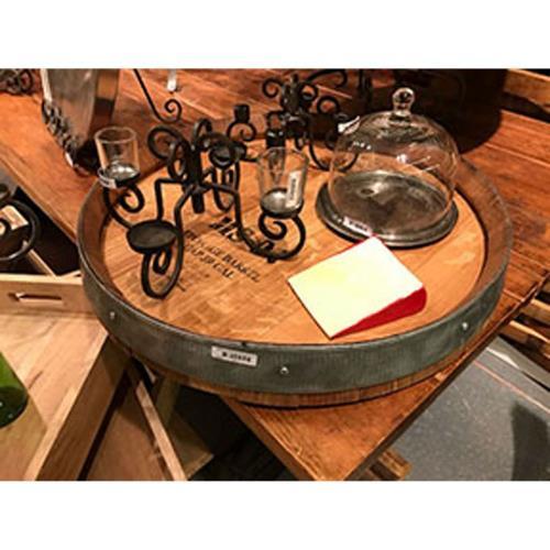 Elk-Home SUSAN011 WB Wine Barrel Banded - 24.6 Inch Lazy Susan